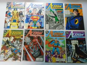 Action Comics Lot From:#600-658+Annual, 47 Different, Average 8.0/VF (1988-1990)