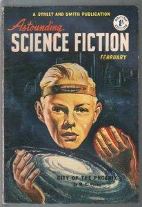 Astounding Science Fiction British Edition 2/1952-sci-fi pulp fiction-Dickson-VG