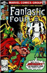 Fantastic Four #230, 9.0 or Better - vs Ebon Seeker / Avengers App.