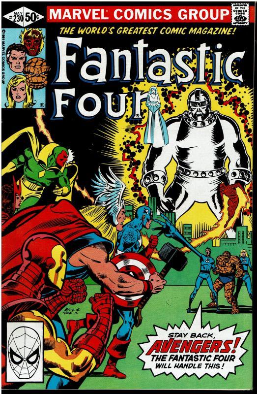 Fantastic Four #230, 9.0 or Better - vs Ebon Seeker / Avengers App.