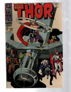 Mighty Thor # 156 FN Marvel Comic Book Loki Odin Asgard Sif Avengers Hulk RB8