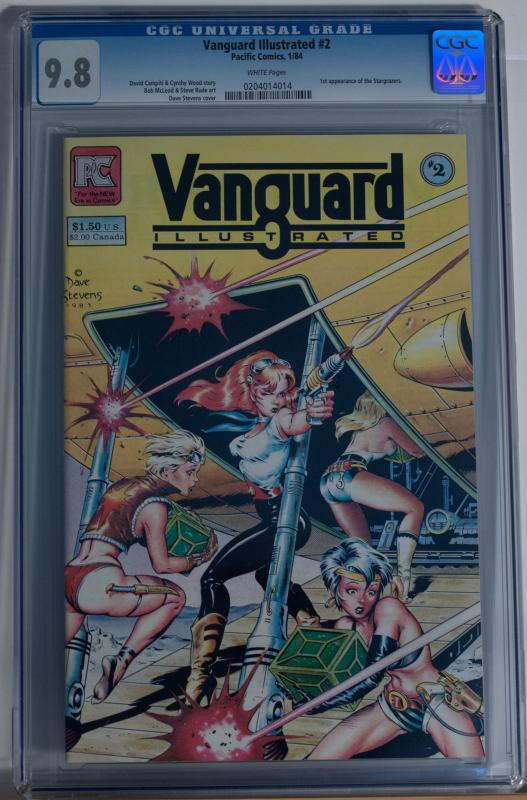 VANGUARD ILLUSTRATED #2, CGC = 9.8, NM/M, Dave Stevens, 1984 , more in store