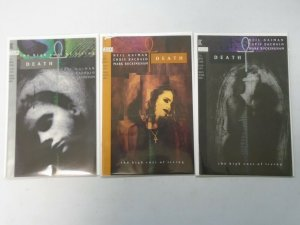 Death The High Cost of Living set #1-3 by Neil Gaiman 8.0 VF (1993)