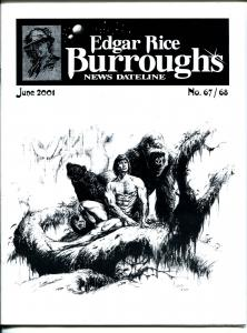Edgar Rice Burroughs News Dateline #67/68 2001-Tarzan-comics-Joe Jusko-pulps-VF