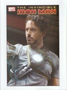 Invincible Iron Man #1 Robert Downey Jr. Photo Cover Marvel Comics 2008 NM-
