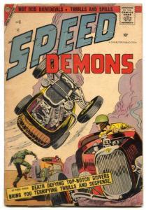 Speed Demons #6 1957- Charlton racing comic- crash cover VG