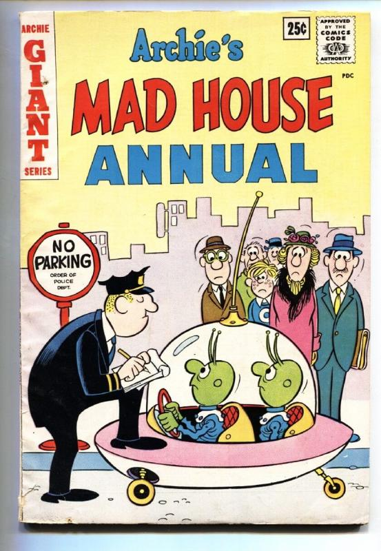 Archie's Madhouse Annual #1 1962-UFO Aliens cover-Comic book