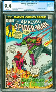 Amazing Spider-Man #122 CGC Graded 9.4 Death of the Green Goblin.