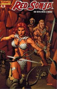 Red Sonja #4 (Dynamite) - Mel Rubi wrap around cover