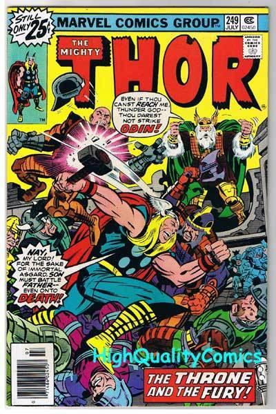 THOR #249, VF, God of Thunder, Buscema, Jack Kirby, 1966, more JK in store