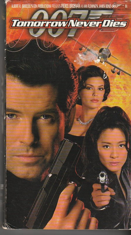 Tomorrow Never Dies VHS  BOND MUST STOP UK/CHINA WAR !
