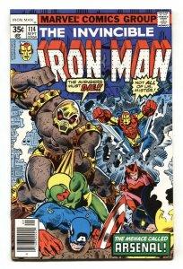 IRON MAN #114-1978-1st appearance of ARSENAL MARVEL BRONZE-AGE COMIC
