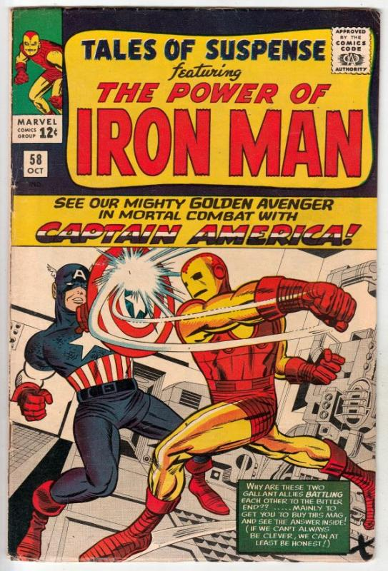 Tales of Suspense #58 (Oct-64) VF+ High-Grade Iron Man, Captain America