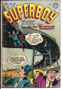 Superboy #28 - Golden Age - Oct.-Nov 1953 (G+)