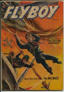 Flyboy #5 1954-parachute cover-Norman Saunders-Approved Comics-VG+
