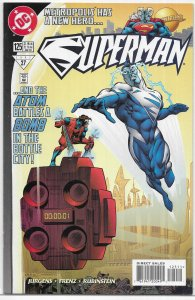 Superman (vol. 2, 1987) #125 VF Jurgens/Frenz, Atom, Kandor