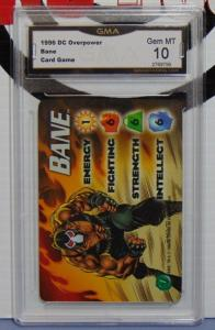 1996 DC Overpower TCG CCG Bane Batman Card - Graded Gem Mint 10