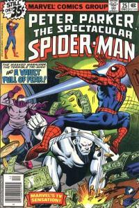 Spectacular Spider-Man (1976 series) #25, Fine+ (Stock photo)