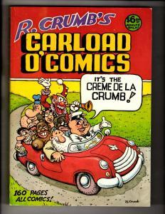 R. Crumb's Carload O'Comics Graphic Novel TPB Comic Book Belier Press 1st Pr FM6