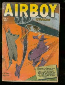 AIRBOY COMICS V.9 #1 1952-AVIATION BATTLE COVER-HEAP  FR