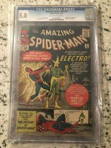 Amazing Spider-Man # 9 VG/FN CGC 5.0 GRADED Marvel COMIC Book 1st Electro AP TJ1