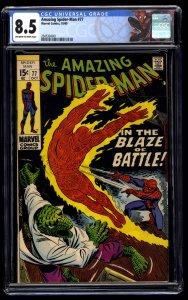 Amazing Spider-Man #77 CGC VF+ 8.5 Off White to White Spidey Label!