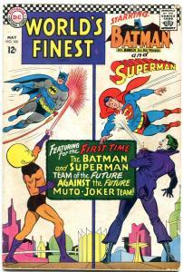 WORLDS FINEST #166 1966-DC COMICS-BATMAN-SUPERMAN-JOKER G/VG