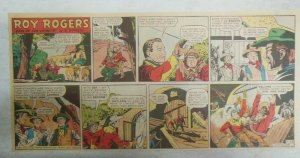 Roy Rogers Sunday Page by Al McKimson from 11/23/1952 Size 7.5 x 15 inches