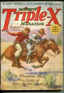 Triple-X #4 9/1924-Fawcett-pulp-Guy Empey-western-mystery-adventure-FN