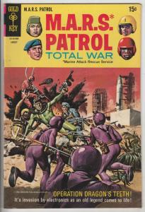 M.A.R.S. Patrol Total War #10 (Aug-69) VF/NM High-Grade M.A.R.S. (Sgt. Joe St...