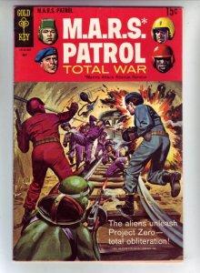 M.A.R.S. Patrol Total War #9 (May-69) FN/VF+ Mid-High-Grade M.A.R.S. (Sgt. Jo...