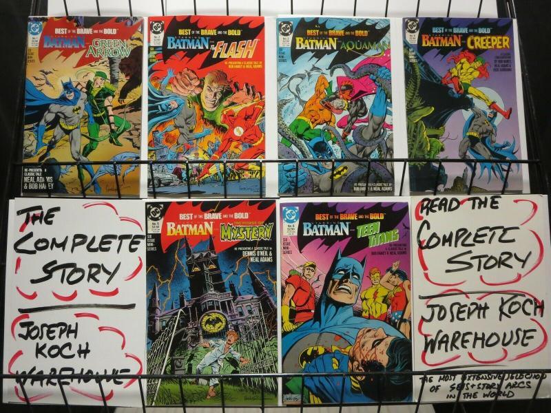 BEST OF BRAVE & BOLD 1-6  classic NEAL ADAMS' BATMAN ! COMICS BOOK