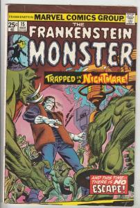 Frankenstein, the Monster of #15 (Mar-75) FN+ Mid-High-Grade Frankenstein