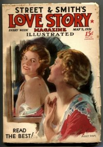 Love Story Pulp May 9 1931- Modest Stein cover FN-