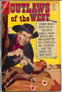 Outlaws of The West #62 1967-Charlton-Dick Giordano-Chief Crazy Horse-FN