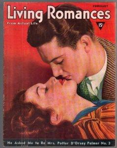 Living Romances #1 2/1940-1st issue-posed pix-exploitation-scandal-VG+