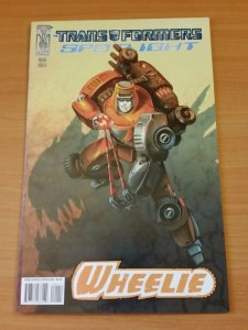 The Transformers: Spotlight: Wheelie #1 A ~ NEAR MINT NM ~ 2008 IDW COMICS