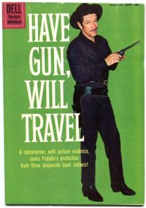 Have Gun Will Travel #5 1960- DELL TV WESTERN COMIC- Richard Boone G+