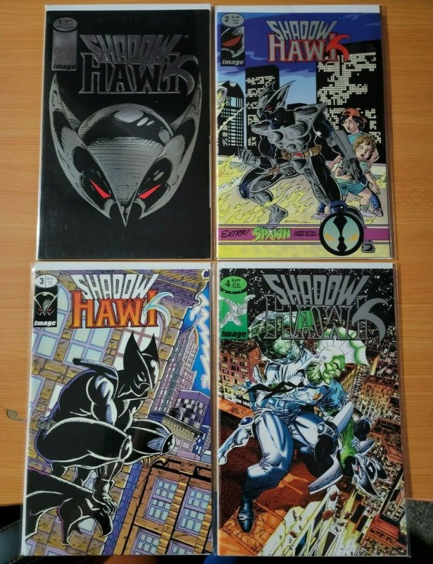 Shadowhawk 1-4 Complete Set Run! ~ NEAR MINT NM ~ 1992 Image Comics