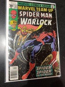 Marvel Team-Up #55 Bronze Age Key F Spider-man Warlock 1st Infinity Gems Stones