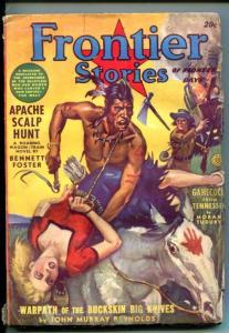 FRONTIER STORIES-SPRING 1942-INDIANS-PULP VIOLENCE-BOUND BLONDE BABE-good minus