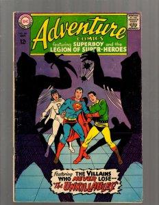 Adventure Comics # 361 FN DC Silver Age Comic Book Superboy Legion Super GK34