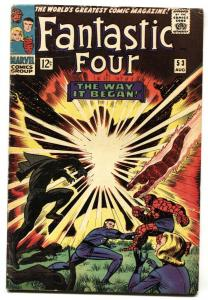 FANTASTIC FOUR #53-Origin of Black Panther-1st Ulysses Klaw VG-
