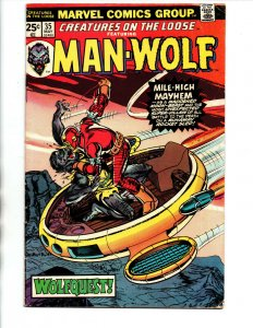 Creatures on the Loose #35 - Horror - Man-wolf - 1975 - FN/VF