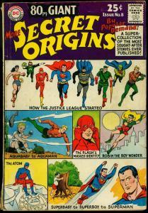80 Page Giant #8 1965- More Secret Origins- Justice League- Aquaman G/VG
