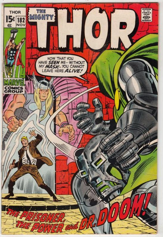 Thor, The Mighty #182 (Nov-70) FN+ Mid-High-Grade Thor