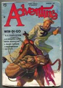 Adventure Pulp March 15 1935- Win-Di-Go VG+