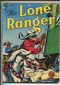 LONE RANGER #8 1949-DELL-SILVER-ORIGIN ISSUE-1ST iNDIAN BACK COVER-good/vg