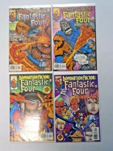 Domination Factor Fantastic Four set #1 to #4 - see pics - NM - 1999