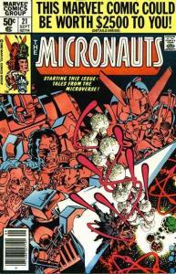 Micronauts (1979 series) #21, VF+ (Stock photo)